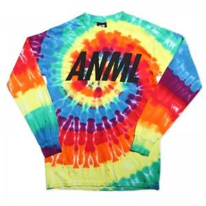 AnmlHse ANML Logo Tie Dye Long Sleeve Shirt