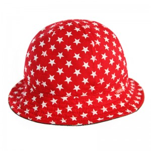 Reversible Forest Wood Camo Stars Bell Bucket Hat USA Red AnmlHse