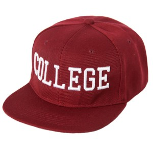 College Snapback Crimson Red